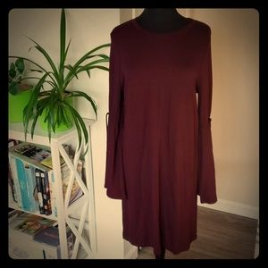 LOFT  Lounge bell sleeve dress L